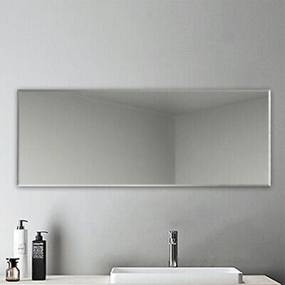 £49.99 • Buy 1200x450 Large Frameless Bathroom Mirror Plain With Wall Hanging Fixing Mirror