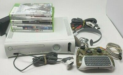 $ CDN111.88 • Buy Microsoft Xbox 360 White Bundle With 5 Games Lots Of Accessories Camo Controller