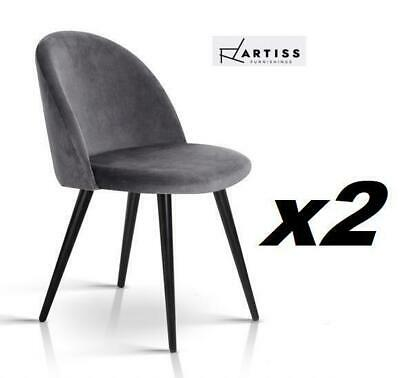 AU87.55 • Buy Artiss Dining Chairs Velvet Chair Seat Cafe Office Modern Iron Legs X2 DG