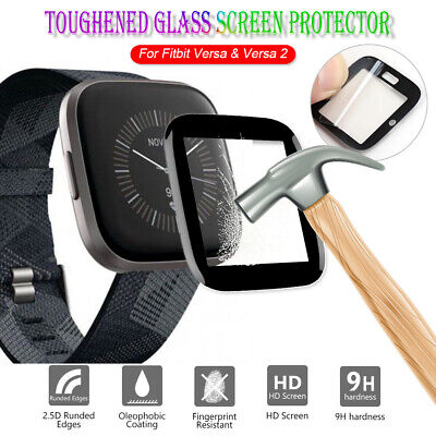 $ CDN4.29 • Buy Glass 3D Protective Film Screen Protector Guard Cover For Fitbit Versa&Versa 2