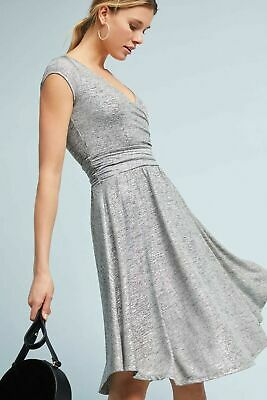 $ CDN35 • Buy Anthropologie's Maeve Size Small Silver Tamera Wrap Dress