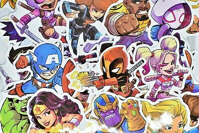 $7.99 • Buy 50 Superhero Video Game Anime Vinyl Stickers Pack For Hydro Flask Laptop Car