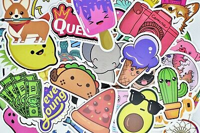$7.99 • Buy 50 Cute Teen Girl Vinyl Stickers Pack For Hydro Flask Laptop Suitcase Journal