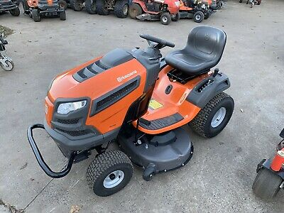AU2999 • Buy VERY LOW HOUR Husqvarna TS246 Ride On Mower, 20hp Engine, Foot Automatic Trans