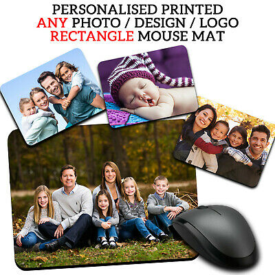 PERSONALISED Family Photo Picture Mouse Mat Pad Computer Gaming Non Slip Rubber • 4.99£