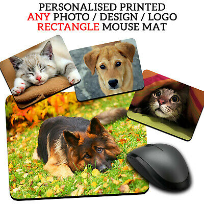 PERSONALISED Dog/Cat Photo Picture Mouse Mat Pad Computer Gaming Non Slip Rubber • 3.99£