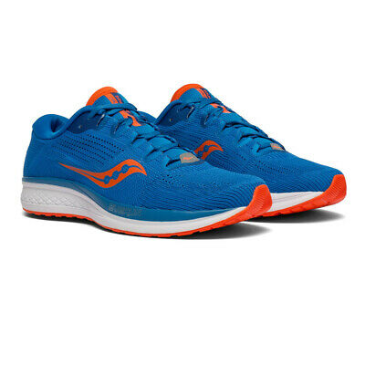 Saucony Mens Jazz 21 Running Shoe Blue Orange Sports Breathable Lightweight • 54.99£