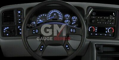 $99 • Buy GM Dash Bulb To Blue LED Upgrade Kit For GM Truck & SUV's 2003 04 05 06 DIY New