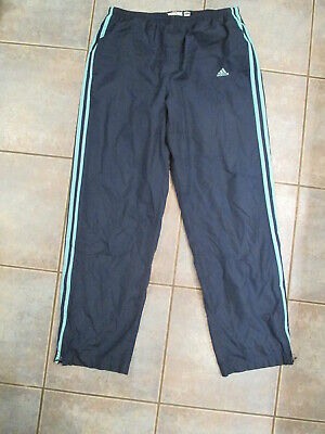 $ CDN15.99 • Buy Men's Adidas Windbreaker Track Pants Size Large Blue 3 Stripes
