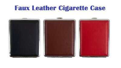 Faux Leather Cigarette Case With PDQ Tin Tobacco Smoking Pocket Holder  • 3.20£