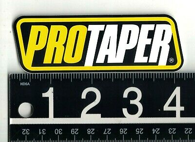 $ CDN6.22 • Buy PROTAPER WHITE/BLACK/YELLOW STICKER 4.1 In X 1.4 In Motorcycle Automotive Decal