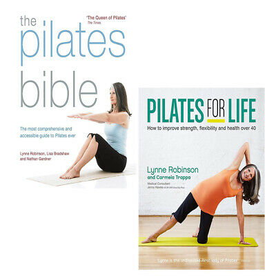 £19.99 • Buy Lynne Robinson 2 Books Collection Set The Pilates Bible, Pilates For Life PB NEW
