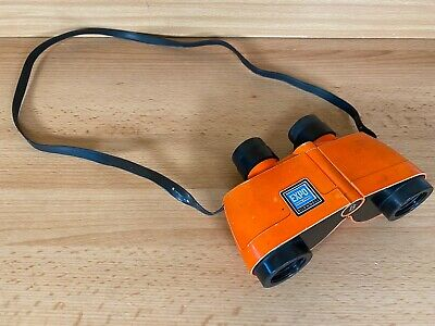 Vintage/Retro Bushnell Expo Extra Power Thumb Focus Binoculars Bright Orange • 24.99£