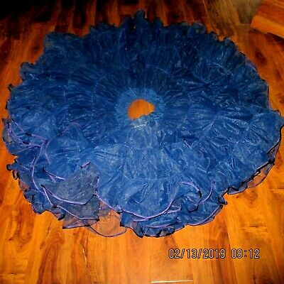 $39 • Buy #11-SQUARE DANCE PETTICOAT,NAVYBLUE,3 Layers ,waist 26-38 ,22  OR 23 LONGXXXFULL