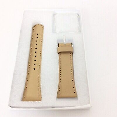 $ CDN12.71 • Buy Wfeagl Leather Replacement Watch Band FitBit Versa Fitness Watch Camel Silver
