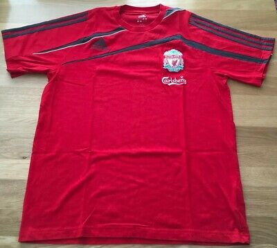Liverpool Adidas Carlsberg Red Short Sleeve T Shirt Men's • 12.99£