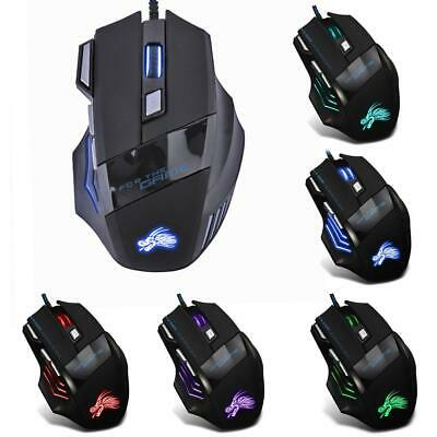 AU8.60 • Buy 5500DPI LED Optical USB Wired Gaming Mouse 7 Buttons Gamer Computer Mice K