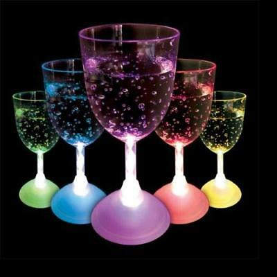 Light Up Wine Glass LED Colour Changing Flashing Light Up Glow Party • 8.69£