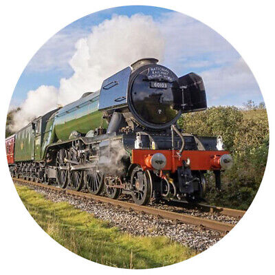 The Flying Scotsman Train Personalised 8  Birthday Edible Round Printed Topper  • 3.75£