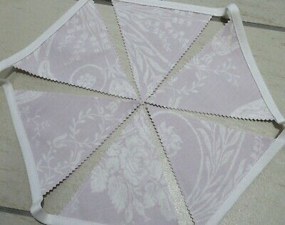 Laura Ashley Josette Fabric Bunting Garland Amethyst Purple White - 1.85 Metres  • 12.50£