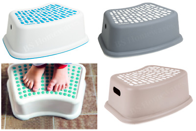 Plastic Non Anti Slip Step Stool Bathroom Toilet Potty Training Kids Children  • 7.48£