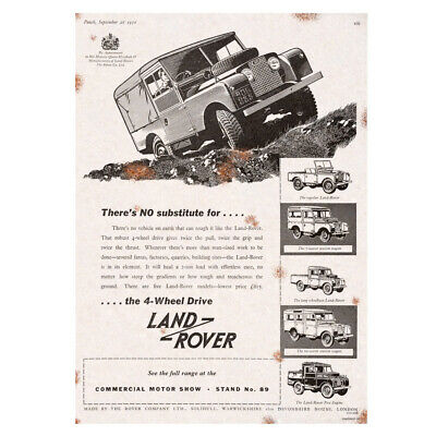 Metal Sign Land Rover Advertising Garage Shed Tin Man Cave Present Bar Garden  • 14.50£