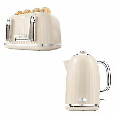 AU115.95 • Buy Euro Toaster 4 Slice Cordless 1.7L Kettle Stainless Steel Electric Kitchen Set