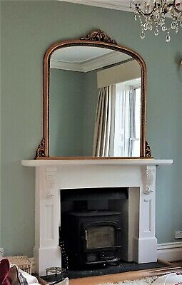 Large White Victorian Style Fireplace Surround • 200£