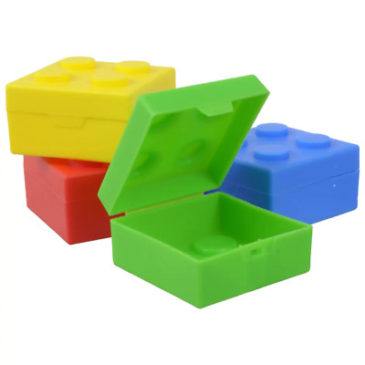 $9.75 • Buy Lego Birthday Party Favor Boxes BUILDING BRICK Containers With Lids Lot Of 8