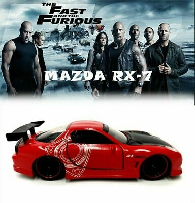 AU24.95 • Buy Jada 1:32 Dom's Mazda Rx-7 Fast And Furious Diecast Model Car Vehicle Toy Gifts