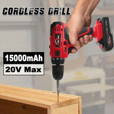 View Details 3/8inch 20V Cordless Drill Electric Wireless Power Driver Battery Recharger NEW • 37.90$