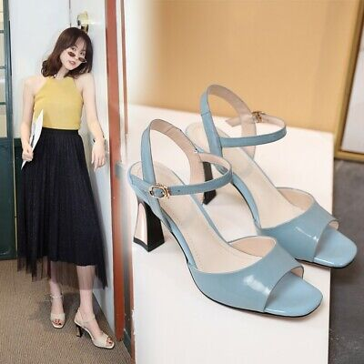 $ CDN63.73 • Buy Women's Fashion Patent Leather Ankle Strap Slingback High Heel Sandals Shoes OQO
