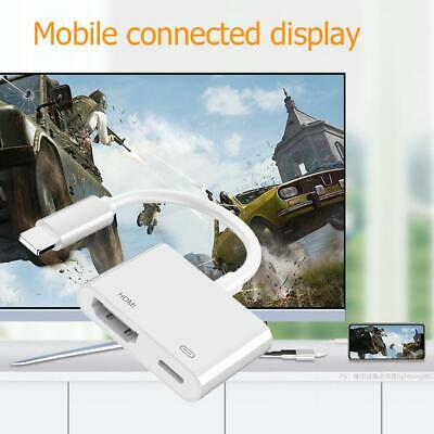 For IPhone 11 TV Projector 8 Pin To HDMI Digital AV Cable Adapter Converter • 6.80£