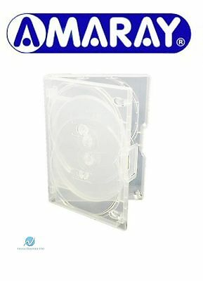 1 X 7 Way Clear Mini Megapack DVD 23mm [7 Discs] Empty Replacement Amaray Case • 7.99£
