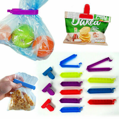 Food Bag Clips 13 Reusable Tie Plastic Storage Sealing Fridge Freezer • 2.80£
