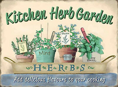 £6.95 • Buy Vintage Shabby Style Metal Sign Kitchen Herb Picture Wall Plaque Retro Chic Gift