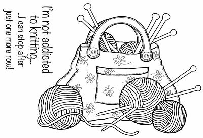 KNITTING BAG - Clear Magic Stamp - Woodware • 5.49£