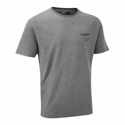 Aston Martin Racing Team Mens Sports T-Shirt Lifestyle Grey Size Large • 9.99£