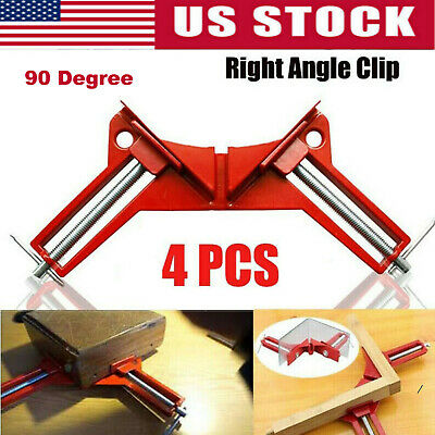 $21 • Buy Woodworking Hand Kit Tools 4*90° Degree Right Angle Clip Clamps Corner Holder US