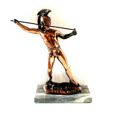 Vintage Copper Metal Cast Statue Of Roman Centurion Soldier Classical Figure • 30£