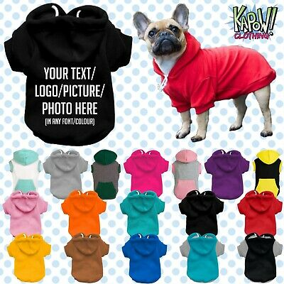Custom Personalised Dog Puppy Pet HOODIE Clothes Name Funny Gift-Your Text/logo • 15.99£