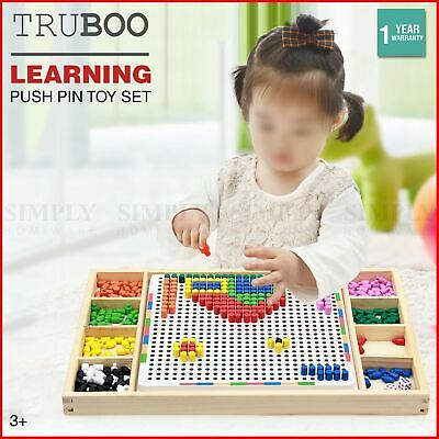 AU27.50 • Buy Truboo Kids Peg Board Educational Puzzle Toys Children Creative Early Learning