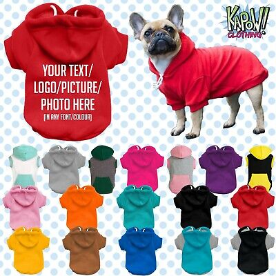 Custom Personalised Dog Puppy Pet HOODIE Clothes Name Funny Gift-Your Text/logo2 • 10.99£
