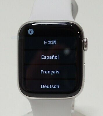 $ CDN479.46 • Buy Apple Watch Series 4 Stainless Steel Case 44mm (GPS + Cellular) MTV22LL/A Silver