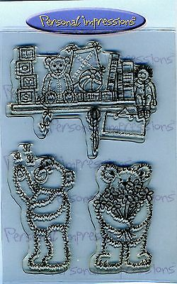 Personal Impressions / Lindsay Mason - Clear Stamp - Teddy Bears 1 • 7.21£
