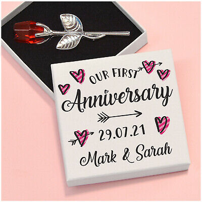 £8.95 • Buy PERSONALISED Romantic Our 1st First Wedding Anniversary Gifts For Wife Husband