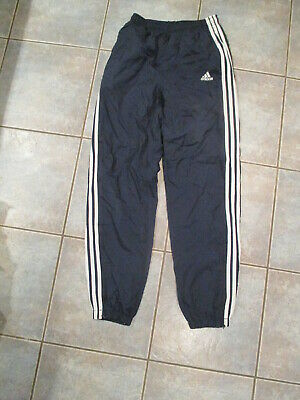 $ CDN15.99 • Buy Vintage Adidas Windbreaker Track Pants Blue Lines Size Small