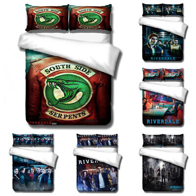 AU86.21 • Buy Twin Full Queen King Riverdale 3D Bedding Set 3PCs Duvet Quilt Cover Pillowcase