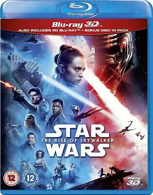 AU70.91 • Buy Star Wars The Rise Of The Skywalker 3D (Blu-ray 2D/3D) BRAND NEW!!