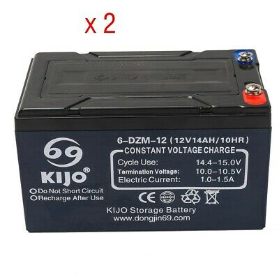 AU115.99 • Buy 2x 12V 14AH SLA Lead Acid Battery 6-DZM-12 Rechargeable For Eaton UPS NBN Alarm
